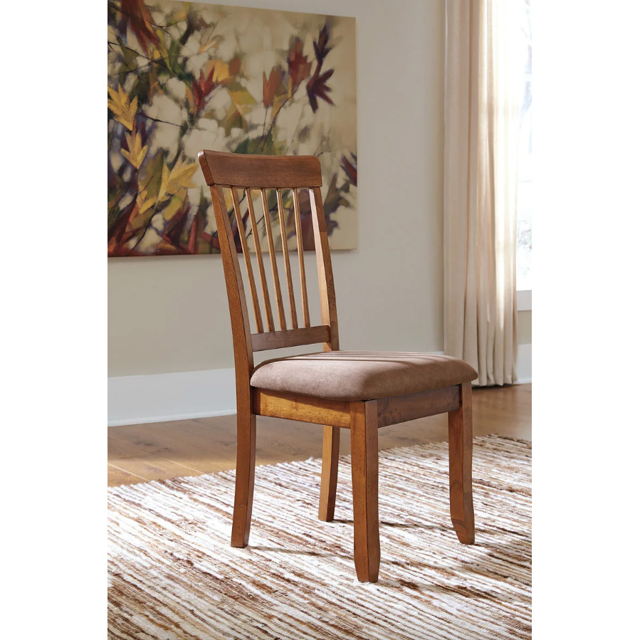 Berringer - Rustic Brown - 3 Pc. - Drop Leaf Table & 2 UPH Side Chairs