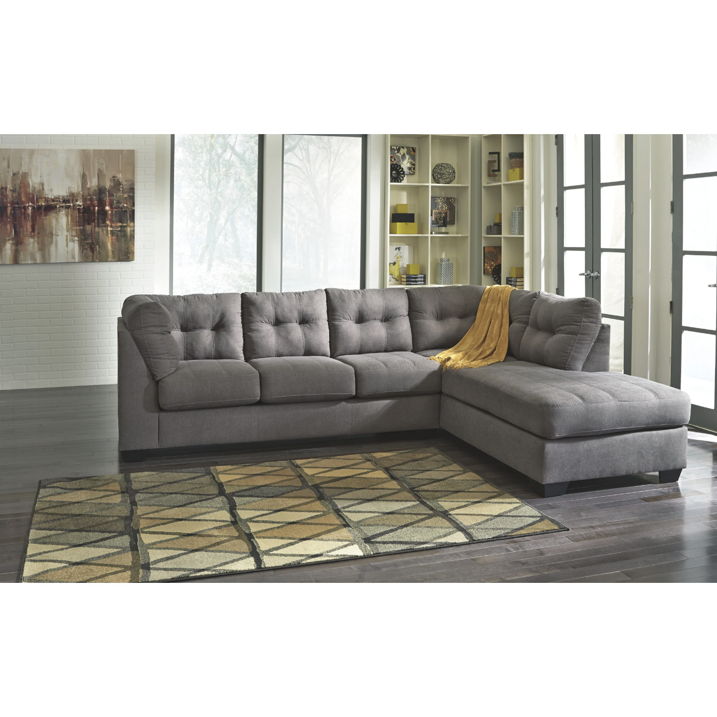 Maier - Charcoal - LAF Sofa & RAF Corner Chaise Sectional